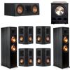 Klipsch 7.1 Ebony System - 2 RP-8000F, 1 RP-500C, 4 RP-402S, 1 PL-300