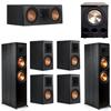 Klipsch 7.1 Ebony System - 2 RP-8000F, 1 RP-500C, 4 RP-500M, 1 PL-300