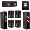 Klipsch 7.1 Ebony System - 2 RP-8000F, 1 RP-500C, 4 RP-502S, 1 PL-300