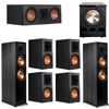 Klipsch 7.1 Ebony System - 2 RP-8000F, 1 RP-500C, 4 RP-600M, 1 PL-300