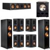 Klipsch 7.1 Ebony System - 2 RP-8000F, 1 RP-504C, 4 RP-402S, 1 PL-300