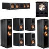 Klipsch 7.1 Ebony System - 2 RP-8000F, 1 RP-504C, 4 RP-500M, 1 PL-300