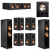Klipsch 7.1 Ebony System - 2 RP-8000F, 1 RP-504C, 4 RP-502S, 1 PL-300