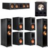 Klipsch 7.1 Ebony System - 2 RP-8000F, 1 RP-504C, 4 RP-600M, 1 PL-300