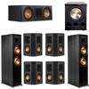 Klipsch 7.1 Ebony System - 2 RP-8000F, 1 RP-600C, 4 RP-402S, 1 PL-300