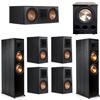Klipsch 7.1 Ebony System - 2 RP-8000F, 1 RP-600C, 4 RP-500M, 1 PL-300