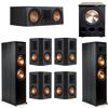 Klipsch 7.1 Ebony System - 2 RP-8000F, 1 RP-600C, 4 RP-502S, 1 PL-300