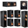 Klipsch 7.1 Ebony System - 2 RP-8000F, 1 RP-600C, 4 RP-600M, 1 PL-300