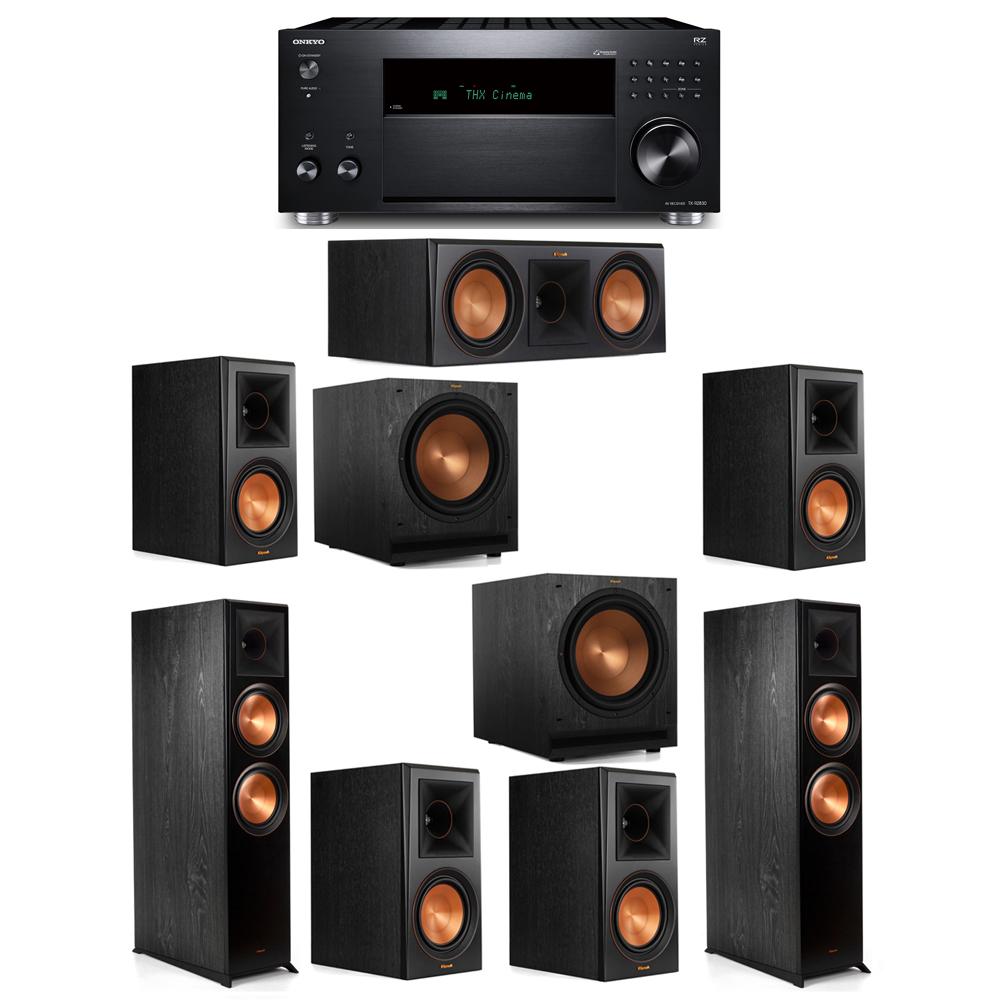 Klipsch 7.2 System with 2 RP-8000F, 1 RP-600C, 4 RP-600M, 2 SPL-120, 1 Onkyo TX-RZ830 Receiver