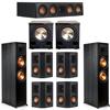 Klipsch 7.2 Ebony System - 2 RP-8000F, 1 RP-404C, 4 RP-402S, 2 PL-200II