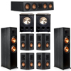 Klipsch 7.2 Ebony System - 2 RP-8000F, 1 RP-404C, 4 RP-402S, 2 PL-300