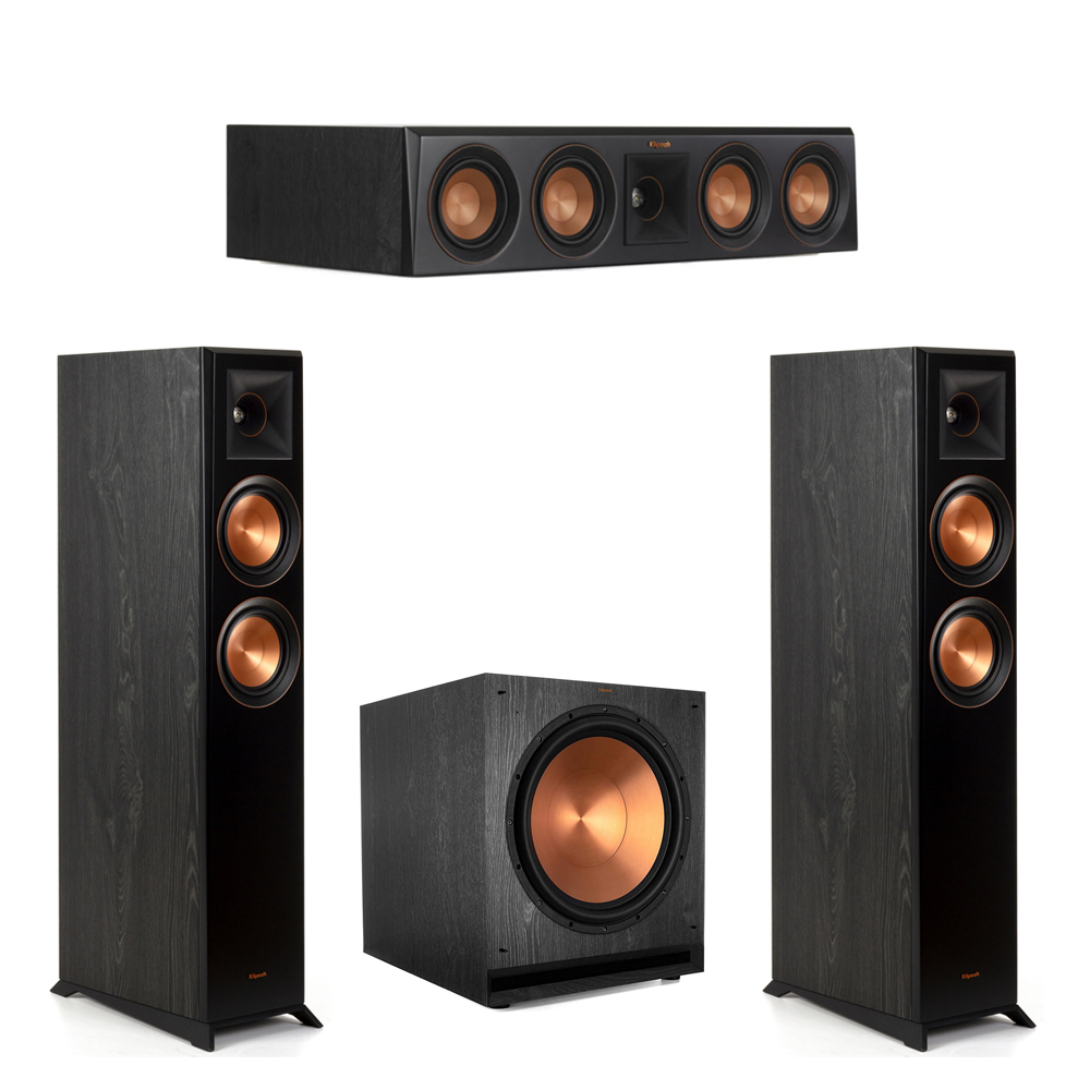 Klipsch-3.1 Ebony Home Theater System - 2 RP-5000F, 1 RP-404C, 1 SPL-150 Subwoofer