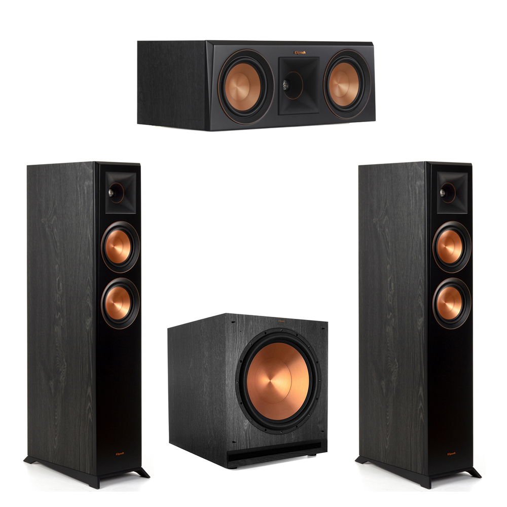 Klipsch-3.1 Ebony Home Theater System - 2 RP-5000F, 1 RP-500C, 1 SPL-150 Subwoofer