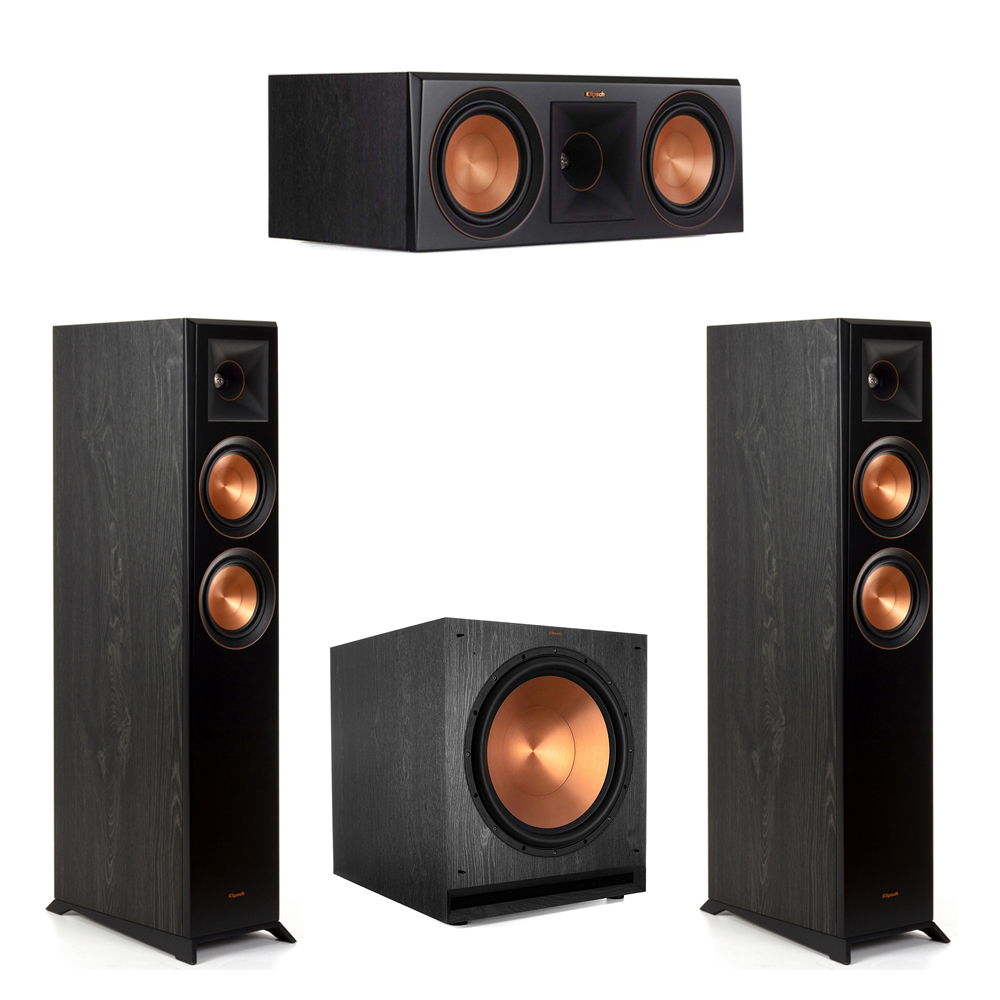 Klipsch-3.1 Ebony Home Theater System - 2 RP-5000F, 1 RP-600C, 1 SPL-150 Subwoofer