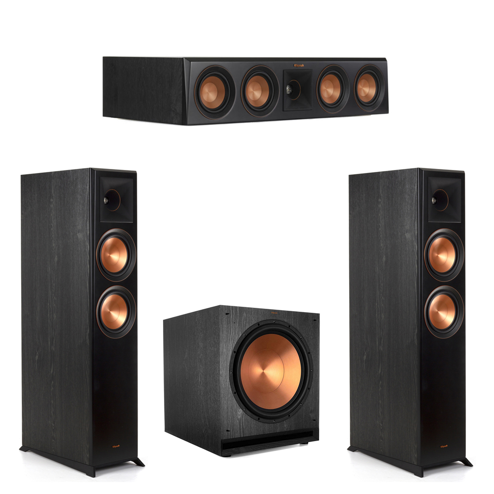 Klipsch-3.1 Ebony Home Theater System - 2 RP-6000F, 1 RP-404C, 1 SPL-150 Subwoofer