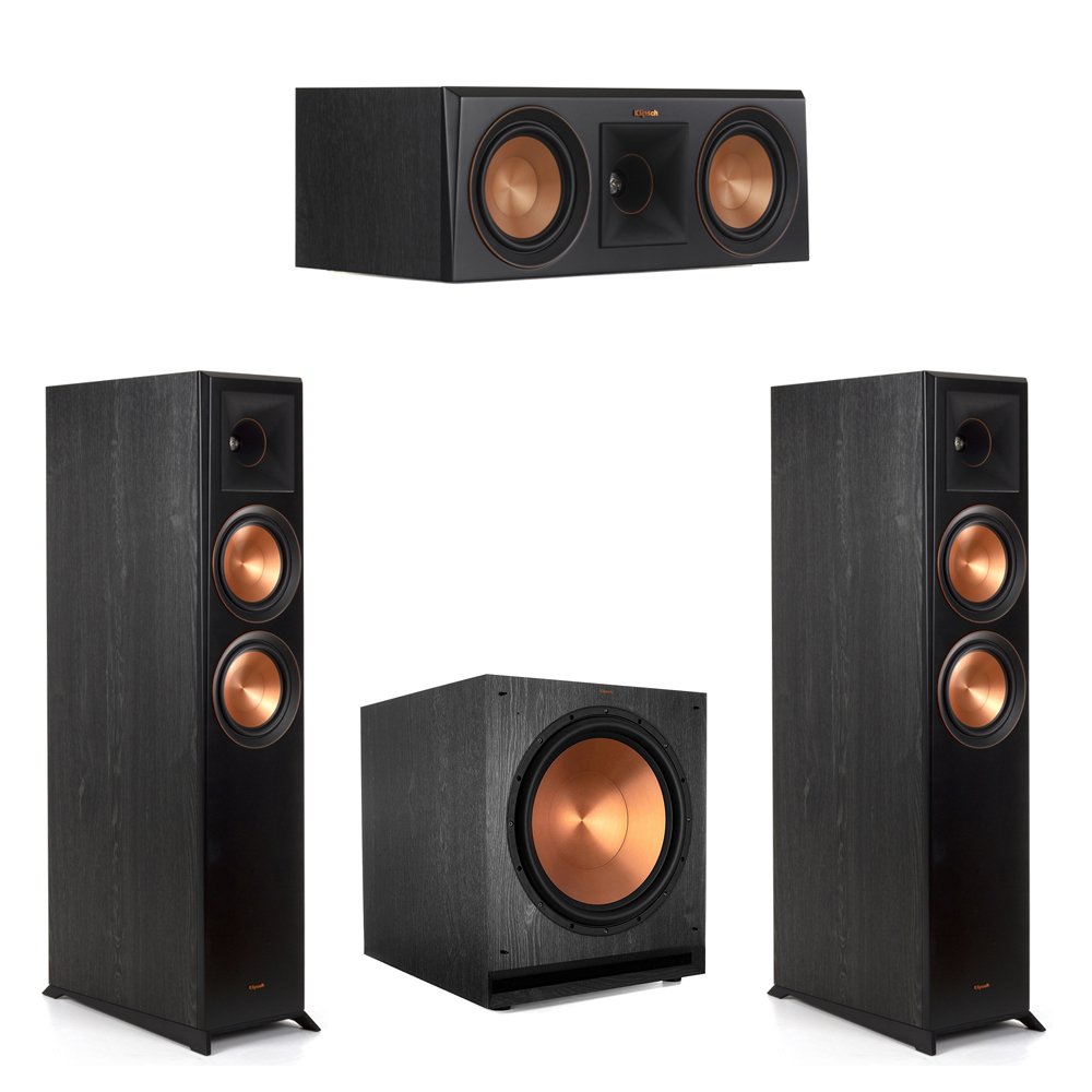Klipsch-3.1 Ebony Home Theater System - 2 RP-6000F, 1 RP-500C, 1 SPL-150 Subwoofer