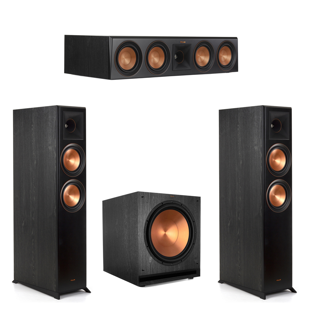 Klipsch-3.1 Ebony Home Theater System - 2 RP-6000F, 1 RP-504C, 1 SPL-150 Subwoofer