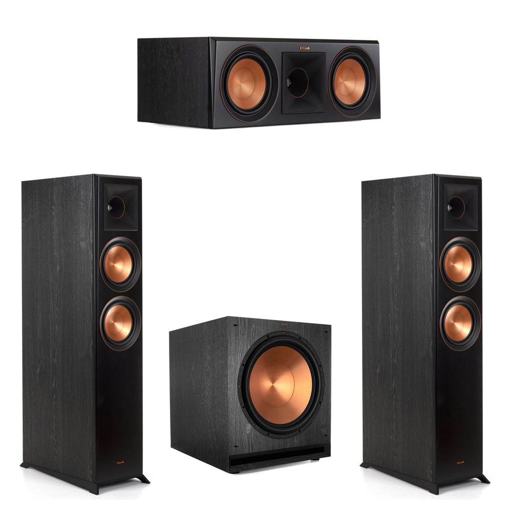 Klipsch-3.1 Ebony Home Theater System - 2 RP-6000F, 1 RP-600C, 1 SPL-150 Subwoofer