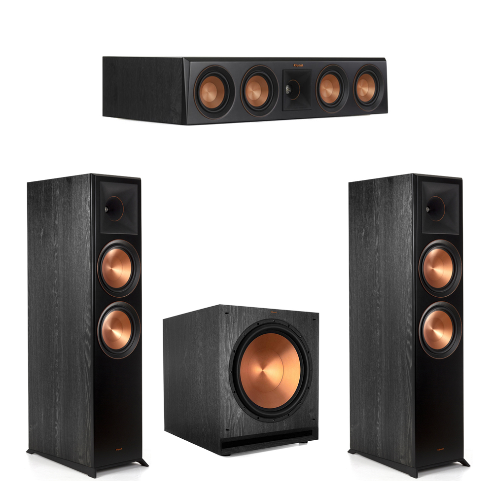 Klipsch-3.1 Ebony Home Theater System - 2 RP-8000F, 1 RP-404C, 1 SPL-150 Subwoofer