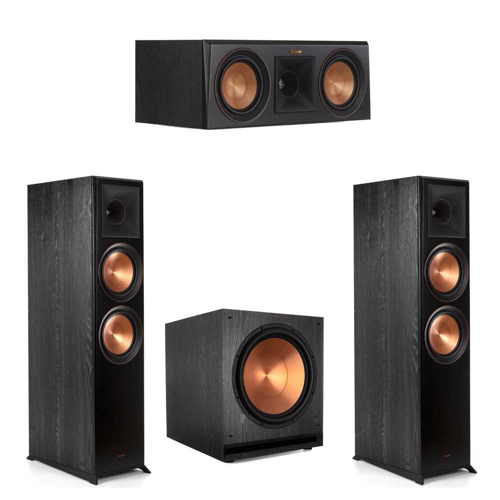 Klipsch-3.1 Ebony Home Theater System - 2 RP-8000F, 1 RP-500C, 1 SPL-150 Subwoofer