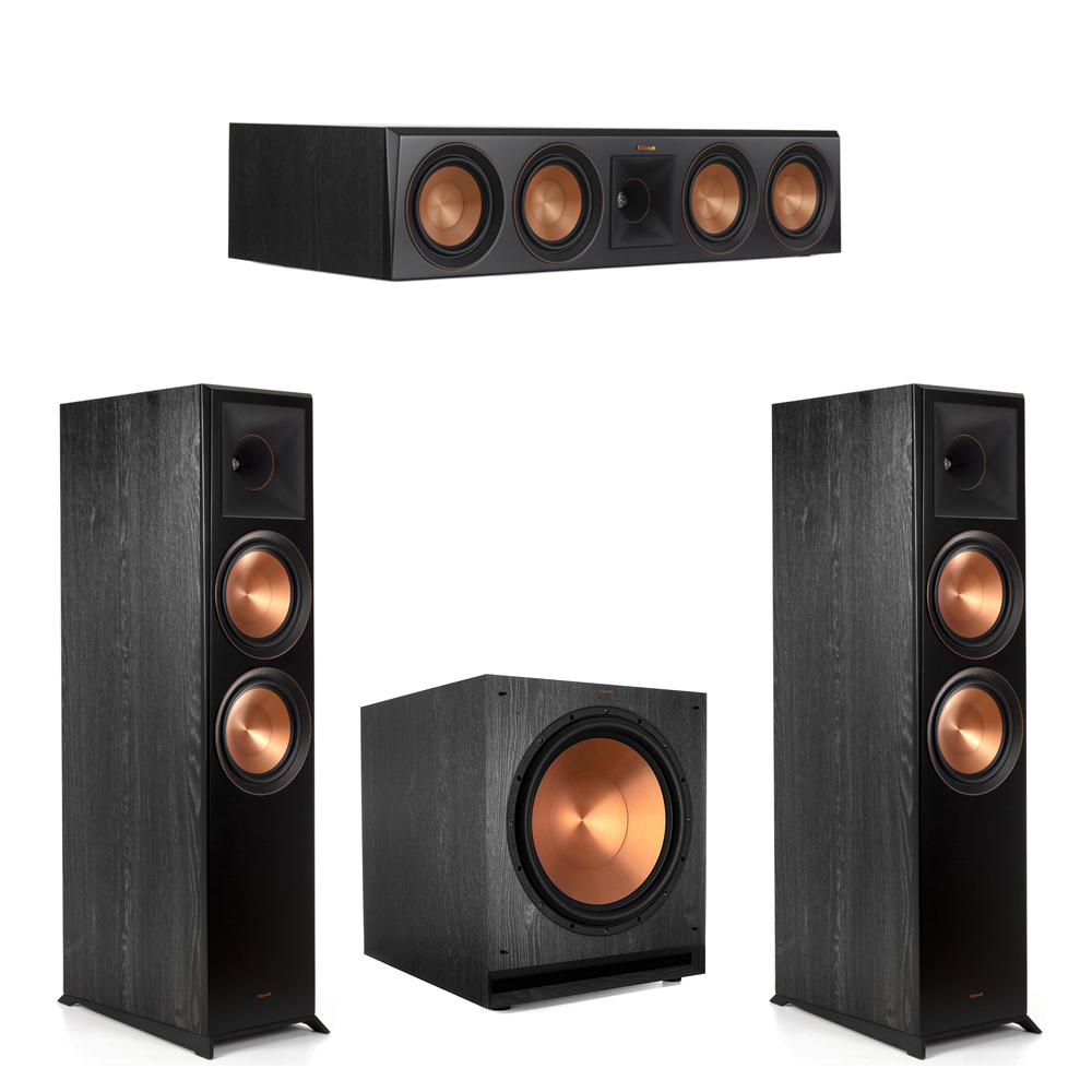 Klipsch-3.1 Ebony Home Theater System - 2 RP-8000F, 1 RP-504C, 1 SPL-150 Subwoofer