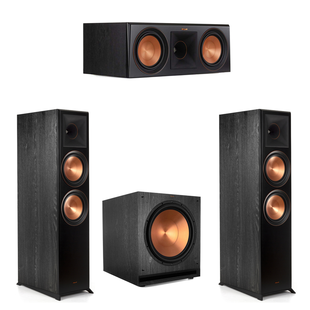 Klipsch-3.1 Ebony Home Theater System - 2 RP-8000F, 1 RP-600C, 1 SPL-150 Subwoofer