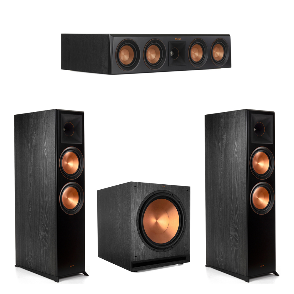 Klipsch-3.1.2 Ebony Home Theater System - 2 RP-8060FA, 1 RP-404C, 1 SPL-150 Subwoofer