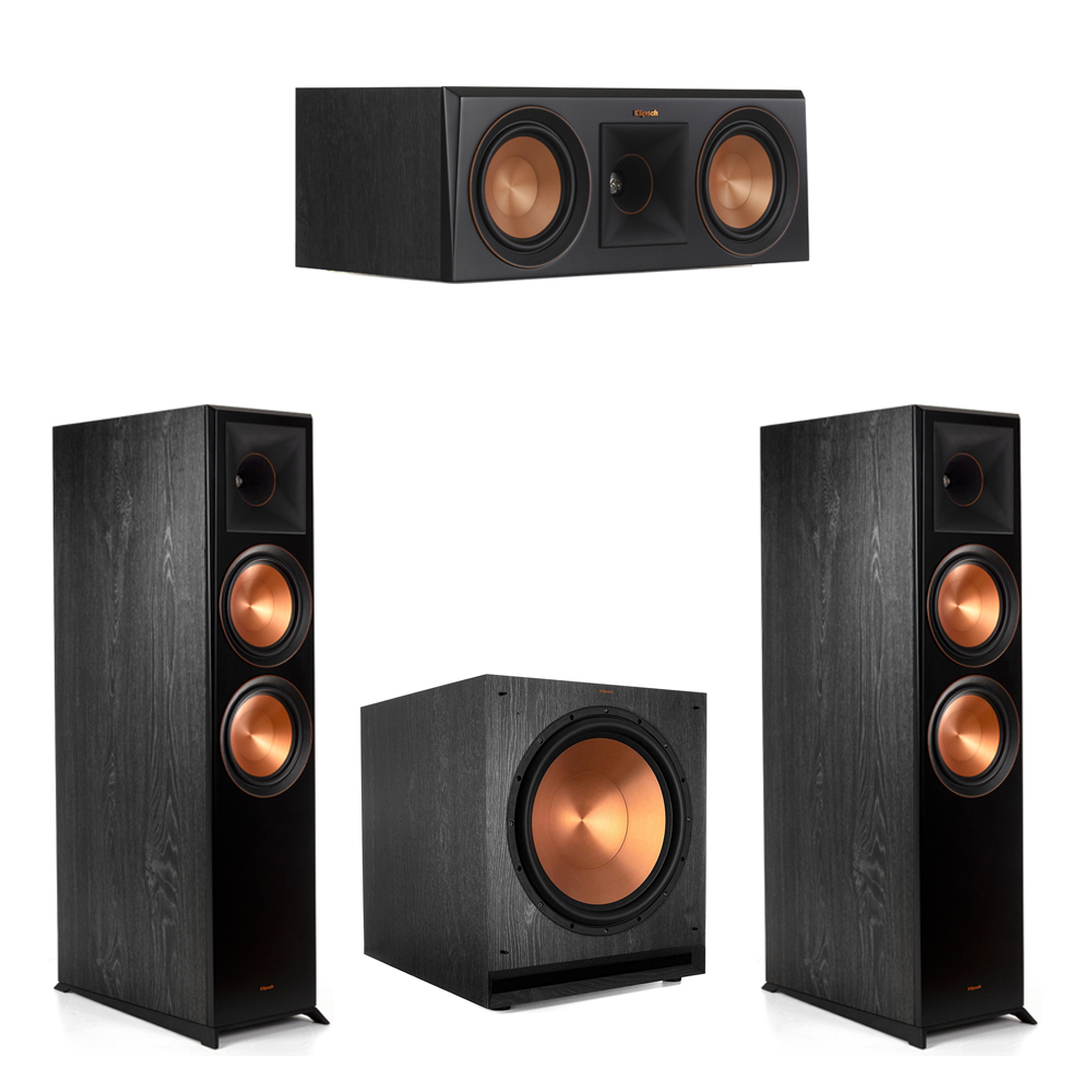 Klipsch-3.1.2 Ebony Home Theater System - 2 RP-8060FA, 1 RP-500C, 1 SPL-150 Subwoofer