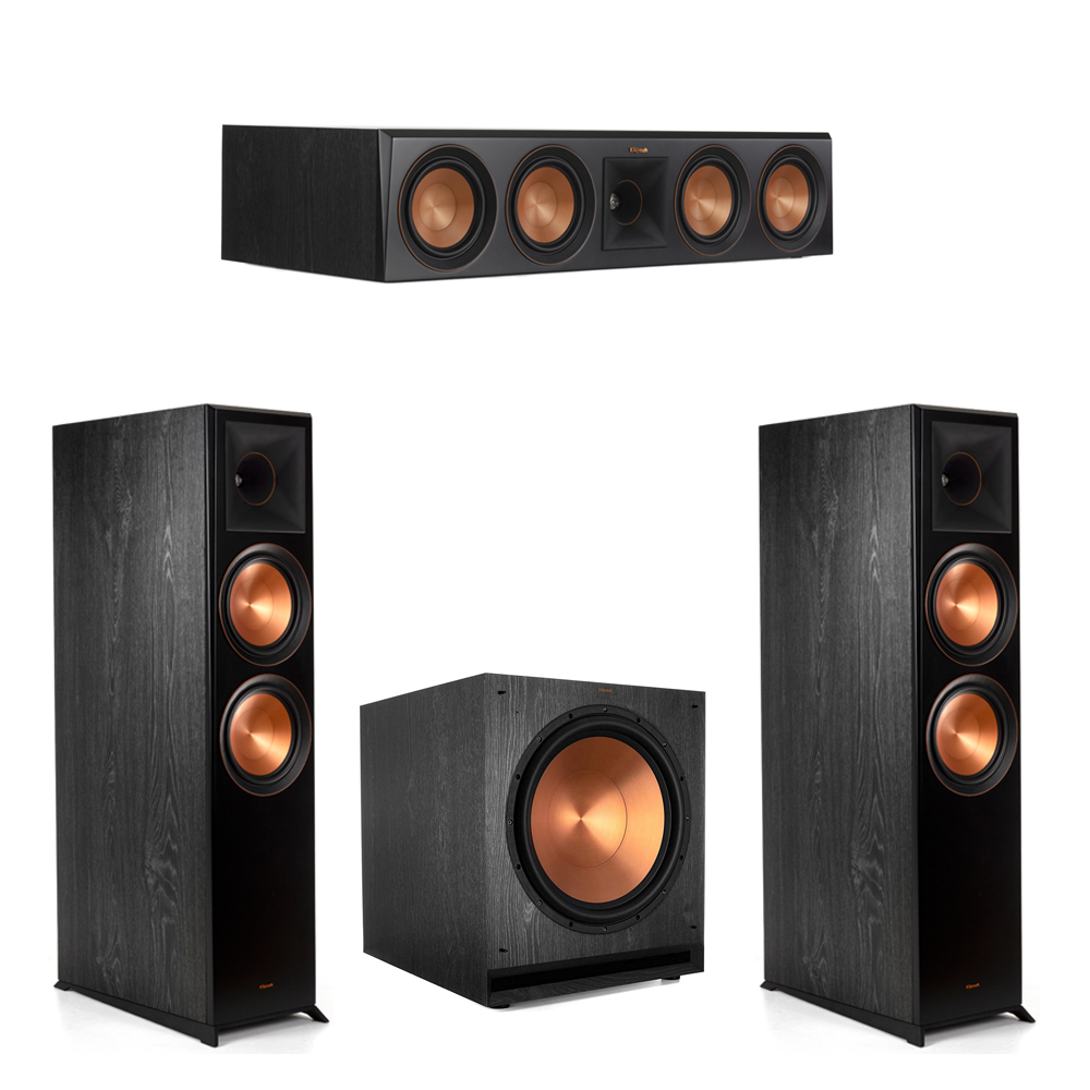 Klipsch-3.1.2 Ebony Home Theater System - 2 RP-8060FA, 1 RP-504C, 1 SPL-150 Subwoofer