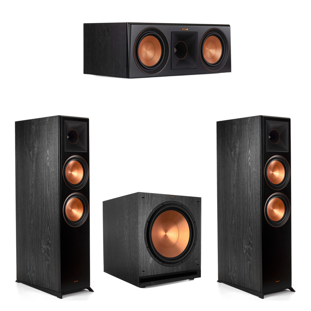 Klipsch-3.1.2 Ebony Home Theater System - 2 RP-8060FA, 1 RP-600C, 1 SPL-150 Subwoofer