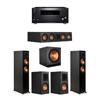 Klipsch 5.1 Ebony System - 2 RP-5000F,1 RP-404C,2 RP-500M,1 SPL-150,1 RZ-840 Receiver