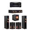 Klipsch 5.1 Ebony System - 2 RP-5000F,1 RP-404C,2 RP-502S,1 SPL-150,1 RZ-840 Receiver