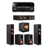 Klipsch 5.1 Ebony System - 2 RP-5000F,1 RP-404C,2 RP-600M,1 SPL-150,1 RX-A1080