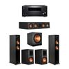 Klipsch 5.1 Ebony System - 2 RP-5000F,1 RP-404C,2 RP-600M,1 SPL-150,1 RZ-840 Receiver