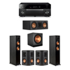Klipsch 5.1 Ebony System - 2 RP-5000F,1 RP-500C,2 RP-402S,1 SPL-150,1 RX-A1080