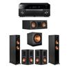 Klipsch 5.1 Ebony System - 2 RP-5000F,1 RP-500C,2 RP-502S,1 SPL-150,1 RX-A1080