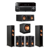 Klipsch 5.1 Ebony System - 2 RP-5000F,1 RP-500C,2 RP-502S,1 SPL-150,1 RX-A3080
