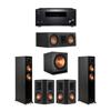 Klipsch 5.1 Ebony System - 2 RP-5000F,1 RP-500C,2 RP-502S,1 SPL-150,1 RZ-840 Receiver