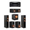Klipsch 5.1 Ebony System - 2 RP-5000F,1 RP-500C,2 RP-600M,1 SPL-150,1 RZ-840 Receiver
