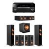 Klipsch 5.1 Ebony System - 2 RP-5000F,1 RP-504C,2 RP-402S,1 SPL-150,1 RX-A1080
