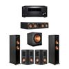 Klipsch 5.1 Ebony System - 2 RP-5000F,1 RP-504C,2 RP-402S,1 SPL-150,1 RZ-840 Receiver