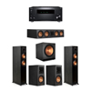 Klipsch 5.1 Ebony System - 2 RP-5000F,1 RP-504C,2 RP-500M,1 SPL-150,1 RZ-840 Receiver