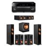 Klipsch 5.1 Ebony System - 2 RP-5000F,1 RP-504C,2 RP-502S,1 SPL-150,1 RX-A1080
