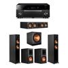 Klipsch 5.1 Ebony System - 2 RP-5000F,1 RP-504C,2 RP-600M,1 SPL-150,1 RX-A1080