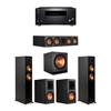 Klipsch 5.1 Ebony System - 2 RP-5000F,1 RP-504C,2 RP-600M,1 SPL-150,1 RZ-840 Receiver