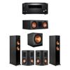 Klipsch 5.1 Ebony System - 2 RP-5000F,1 RP-600C,2 RP-402S,1 SPL-150,1 RZ-840 Receiver