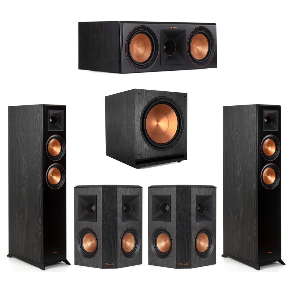 Klipsch-5.1 Ebony Home Theater System - 2 RP-5000F, 1 RP-600C, 2 RP-402S, 1 SPL-150 Subwoofer