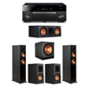 Klipsch 5.1 Ebony System - 2 RP-5000F,1 RP-600C,2 RP-500M,1 SPL-150,1 RX-A1080
