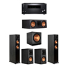 Klipsch 5.1 Ebony System - 2 RP-5000F,1 RP-600C,2 RP-500M,1 SPL-150,1 RZ-840 Receiver