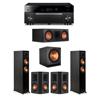 Klipsch 5.1 Ebony System - 2 RP-5000F,1 RP-600C,2 RP-502S,1 SPL-150,1 RX-A1080